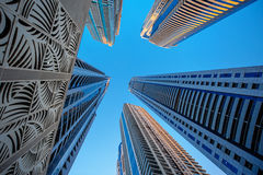 Skyscrapers on a background of blue sky Royalty Free Stock Image