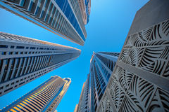 Skyscrapers on a background of blue sky Stock Images