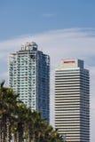 Skyscrapers in Barcelona Stock Images