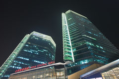 Skyscrapers Beijing Central Place at night, China Royalty Free Stock Images