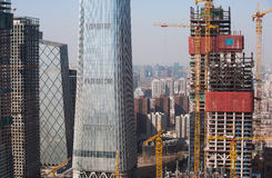 Skyscrapers of Beijing Royalty Free Stock Photography
