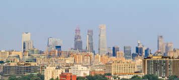 Skyscrapers, Beijing downtown, China Stock Photos