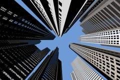 Skyscrapers from below Stock Photos