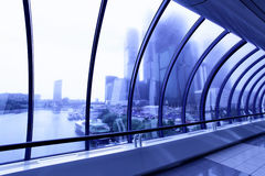 Skyscrapers beyond window Royalty Free Stock Photography