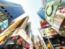 Skyscrapers and billboards at Times Square in New York Royalty Free Stock Image