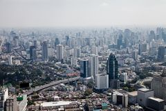 Skyscrapers bird's eye view Bangkok, Thailand Stock Photos