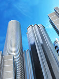 Skyscrapers on blue sky background Royalty Free Stock Photo