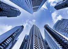 Skyscrapers in blue tone Royalty Free Stock Image