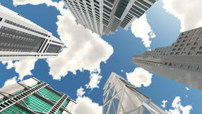 Skyscrapers, bottom view Stock Photography