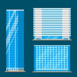 Skyscrapers buildings isolated tower office city architecture house business apartment vector illustration Stock Photo