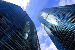 Skyscrapers in business center Stock Images