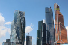 Skyscrapers of the business center Moscow-City Stock Images
