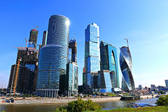 Skyscrapers of business center in Moscow Royalty Free Stock Photo