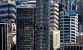 Skyscrapers in business district. Business district in Seattle Washington Royalty Free Stock Photos