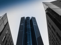 Skyscrapers in the business district of Frankfurt Royalty Free Stock Photos