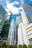 Skyscrapers in business district of Singapore Stock Images