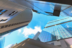 Skyscrapers in business district of Singapore Royalty Free Stock Photo