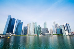 Skyscrapers of business district in Singapore Stock Photo