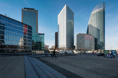 Skyscrapers in business district of the west of Paris, France. Stock Images