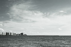 Skyscrapers By The Ocean Royalty Free Stock Photography