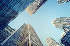 Skyscrapers of Canary Wharf, London Stock Images