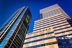 Skyscrapers in Center City, Philadelphia, Pennsylvania. Royalty Free Stock Photo