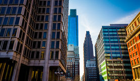 Skyscrapers in Center City, Philadelphia, Pennsylvania. Stock Images