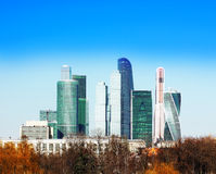 The skyscrapers in the center of Moscow Stock Photos