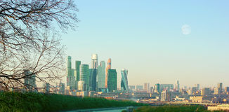 The skyscrapers in the center of Moscow Stock Image