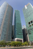 Skyscrapers in the Central Business District of Singapore Stock Photo
