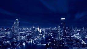 Skyscrapers at Chao Phraya River, Bangkok, Thailand Royalty Free Stock Photos