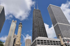 Skyscrapers of Chicago from below Stock Images