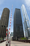 Skyscrapers in Chicago City Stock Images