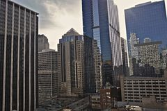 Skyscrapers of Chicago. In the Heart of Chicago, Illinois USA. Cities Photo Collection Royalty Free Stock Image