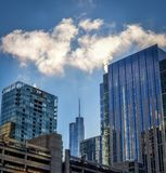 Skyscrapers in Chicago Illinois. Daytime cityscape of skyscrapers in Chicago Illinois with blue sky and light clouds Royalty Free Stock Photo