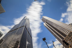 Skyscrapers in Chicago, Michigan, USA Stock Images