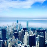 Skyscrapers in Chicago. Chicago Skydeck view Royalty Free Stock Images