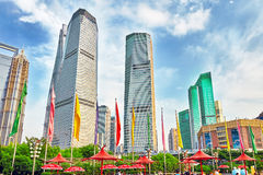 Skyscrapers, city building of Pudong, Shanghai, China. Stock Photography