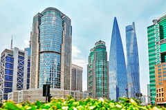 Skyscrapers, city building of Pudong, Shanghai, China. Stock Image