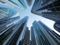 Skyscrapers city business center. 3d illustration Royalty Free Stock Image