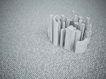 Skyscrapers city business center and streets labyrinth. 3d illustration Stock Photo