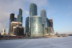 Skyscrapers City international business center, Moscow Stock Photo