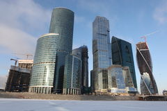 Skyscrapers City international business center, Moscow Royalty Free Stock Image