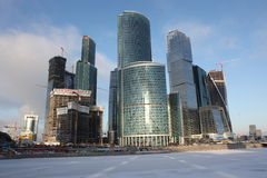 Skyscrapers City international business center, Moscow Royalty Free Stock Photos