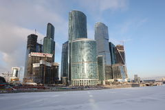 Skyscrapers City international business center, Moscow Stock Image