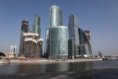 Skyscrapers City international business center, Moscow Royalty Free Stock Photo