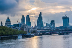 Skyscrapers of The City in London Stock Photos