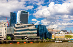 Skyscrapers of the City of London over the Thames Stock Photos