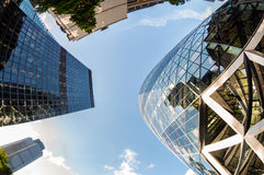Skyscrapers in the City of London Royalty Free Stock Photo