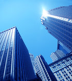 Skyscrapers close-up Royalty Free Stock Photo